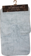 Grey Contemporary Apollo 2pc Bath & Pedestal Mat