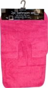 Pink Brights Apollo 2pc Bath & Pedestal Mat