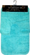 Aqua Brights Apollo 2pc Bath & Pedestal Mat