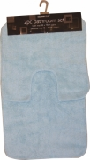 Sky Blue Pastel Apollo 2pc Bath & Pedestal Mat