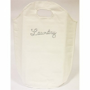 White Diamante Laundry Bag Bath