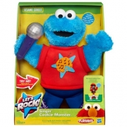 Sesame Street Let'S Rock ' Singing Cookie Monster' 10 inch Plush Soft Toy