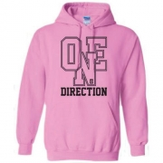 One Direction Athletic Logo Ladies Pouched Hoodie L