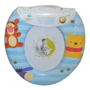 Disney Winnie The Pooh 'Blue' Kids Padded Toilet Seat Soft Potty Training Bath