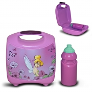 Disney Tinkerbell Fairies Galaxy 'Lilac' School Lunch Box with Bottle