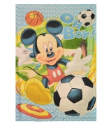 Disney Mickey Mouse 'Oh Boy' Fleece Panel Blanket Throw