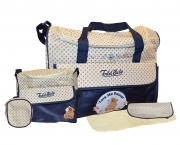 Non Branded Todd Baby Love Me Forever Blue Nappy Changing Bag Care