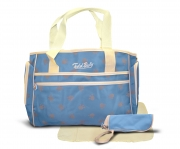 Non Branded Paw Blue 3pc Nappy Changing Bag Baby Care