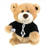 One Direction Singing Bear' 9 inch Black Plush Soft Toy