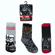 Disney Star Wars 3 Pk Socks 6-8 Size