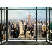New York Skyline Wall Mural Paper Decoration