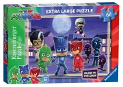 Disney Pj Masks 'Glow In The Dark' 60 Piece Jigsaw Puzzle Game