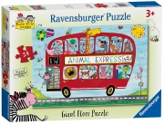 Rachel Ellen Animal Express 24 Piece Jigsaw Puzzle Game