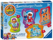 Go Jetters 'Large Shaped' 10 12 14 16 Piece 4 Jigsaw Puzzle Game