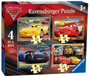 Disney Pixar Cars 3 12 16 20 24 Piece 4 Jigsaw Puzzle Game