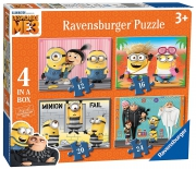 Despicable Me 3 'Minions' 12 16 20 24 Piece 4 Jigsaw Puzzle Game