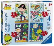 Rachel Ellen Boys 12 16 20 24 Piece 4 Jigsaw Puzzle Game