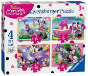 Disney Minnie Mouse 'Happy Helpers' 12 16 20 24 Piece 4 Jigsaw Puzzle Game