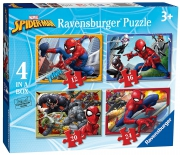 Spiderman 'Force' 12 16 20 24 Piece 4 Jigsaw Puzzle Game