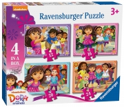 Dora and Friends 12 16 20 24 Piece 4 Jigsaw Puzzle Game