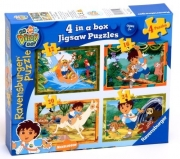 Go Diego 12 16 20 24 Piece 4 Jigsaw Puzzle Game