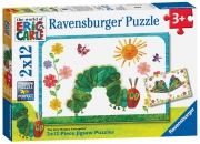 Hungry Caterpiller 2x12 Piece Jigsaw Puzzle Game
