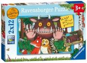 The Gruffalo 'Help' 2x12 Piece Jigsaw Puzzle Game