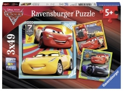 Disney Pixar Cars 3 3x49 Piece Jigsaw Puzzle Game