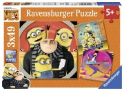 Despicable Me 3 'Minions' 3x49 Piece Jigsaw Puzzle Game