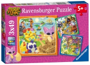 Animal Jam 3x49 Piece Jigsaw Puzzle Game