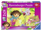 Dora The Explorer 2x24 Piece Jigsaw Puzzle Game