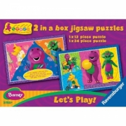 Barney Let' S Play 12 24 Piece 2 Jigsaw Puzzle Game