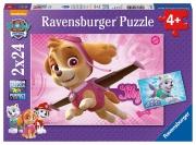 Paw Patrol 'Skye & Everest' 2x24 Piece Jigsaw Puzzle Game