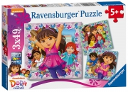 Dora and Friends 3x49 Piece Jigsaw Puzzle Game