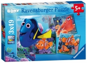 Disney Finding Dory 3x49 Piece Jigsaw Puzzle Game