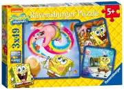Spongebob Squarepants 3x49 Piece Jigsaw Puzzle Game