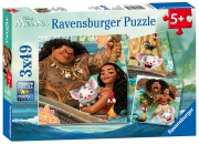 Disney Moana 'Adventure' 3x49 Piece Jigsaw Puzzle Game