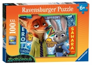 Disney Zootropolis XXL 100 Piece Jigsaw Puzzle Game