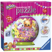 Shopkins 72 Piece '5 inch 3d' Ball Jigsaw Puzzle Game