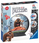 The Secret Life of Pets '72 Piece 3d' Ball Jigsaw Puzzle Game
