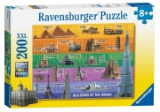 World Famous Buildings XXL 200 Piece Jigsaw Puzzle Game
