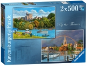 Ravensburger By The Thames 2x500 Piece Jigsaw Puzzle Game