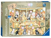 Crazy Cats Vintage Carouse 500 Piece Jigsaw Puzzle Game