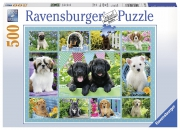 Cute Puppies 500 Piece Jigsaw Puzzle Game