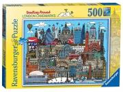 Doodling Around London 500 Piece Jigsaw Puzzle Game