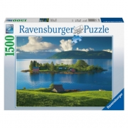 Island In Hordaland Norway 1500 Piece Jigsaw Puzzle Game