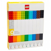 Lego 9 Pack Markers Stationery