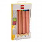 Lego 9 Pack 'Assorted Colours' Coloured Pencils Stationery