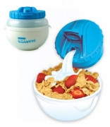 Ez Freeze Stay Fit Delux Cereal Kit, Bowl 750ml & Milk Container 275ml Cool Gear