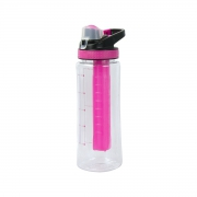Ez-freeze Subzero 'Pink' 828ml with Snap Lock Clip Freeze Bottle